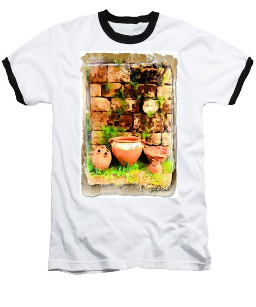 Baseball T-Shirt featuring the photograph Do-00348 Jars In Byblos by Digital Oil