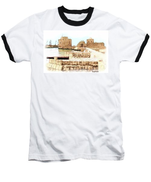 Baseball T-Shirt featuring the photograph Do-00423 Citadel Of Sidon by Digital Oil