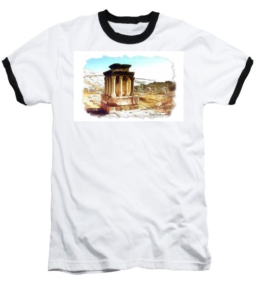 Baseball T-Shirt featuring the photograph Do-00432 The Temple Of Faqra by Digital Oil