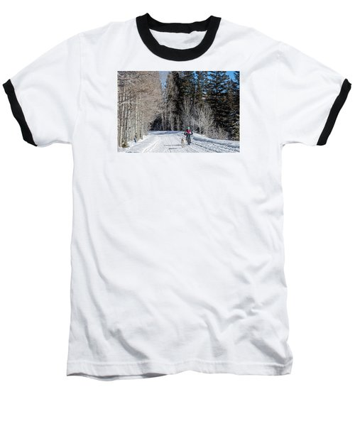Do They Sell Snow Tires For Bikes Baseball T-Shirt by Carol M Highsmith