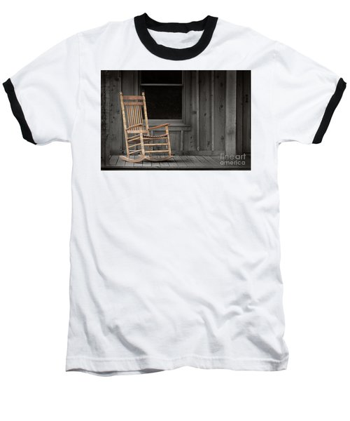 Baseball T-Shirt featuring the photograph Dock Chair by Sebastian Mathews Szewczyk