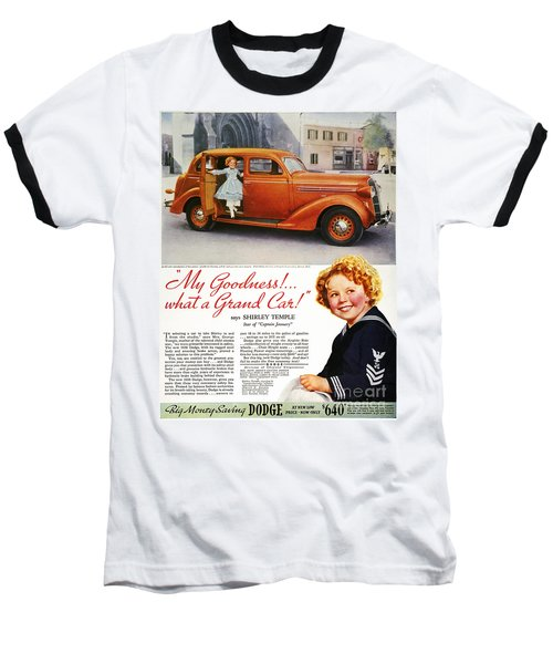 Dodge Automobile Ad, 1936 Baseball T-Shirt by Granger