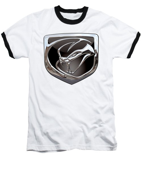 Dodge Viper 3 D  Badge Special Edition On White Baseball T-Shirt