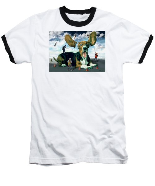 Dog Construction Baseball T-Shirt