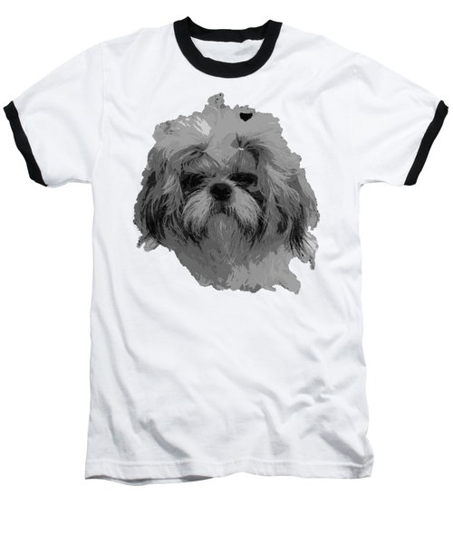 Dog Head  Baseball T-Shirt