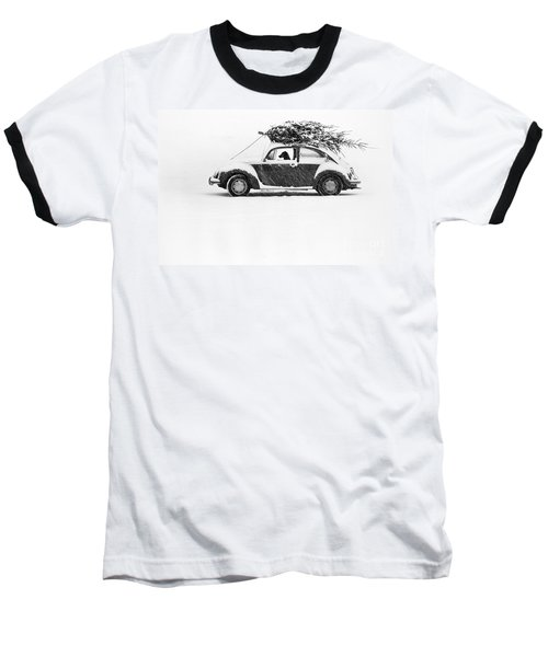 Dog In Car  Baseball T-Shirt