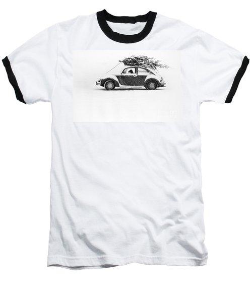 Dog In Car  Baseball T-Shirt