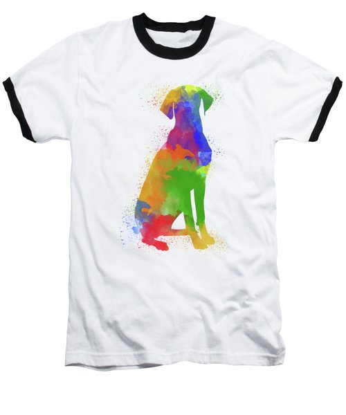 Dog Watercolor 1 Baseball T-Shirt