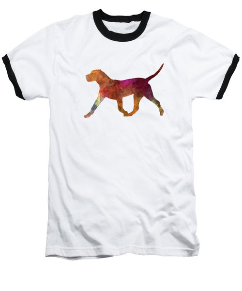 Dogo Canario In Watercolor Baseball T-Shirt by Pablo Romero