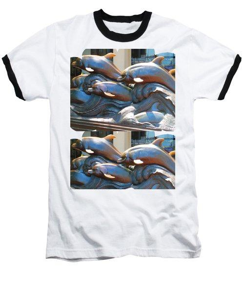 Dolphin Statues Near Boston Aquarium Wonderful Tour Of Finest American   Navinjoshi Fineartamerica Baseball T-Shirt