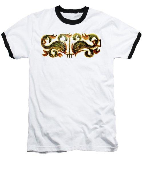Dolphins Of Pompeii Baseball T-Shirt