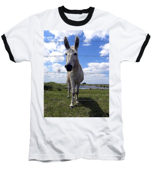 Baseball T-Shirt featuring the photograph Don't Fence Me In 000  by Chris Mercer