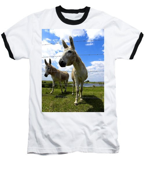 Baseball T-Shirt featuring the photograph Don't Fence Me In 001 by Chris Mercer