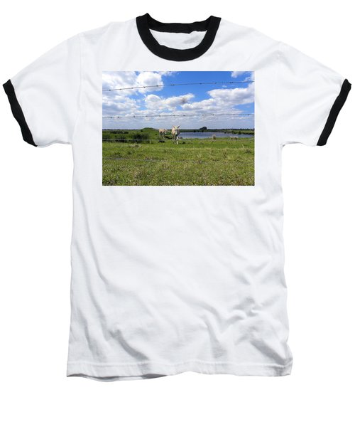 Baseball T-Shirt featuring the photograph Don't Fence Me In by Chris Mercer