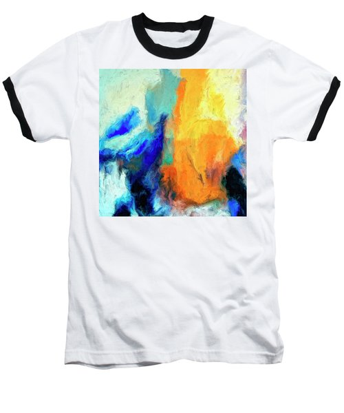 Baseball T-Shirt featuring the painting Don't Look Down by Dominic Piperata