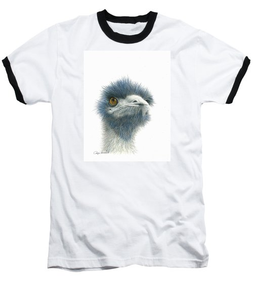 Dont Mess With Emu Baseball T-Shirt by Phyllis Howard