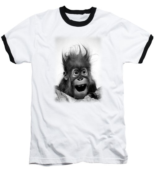 Don't Panic Baseball T-Shirt by Miro Gradinscak