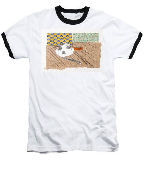 Don't Touch Me Or I Will Eat You Too Baseball T-Shirt by Leela Payne