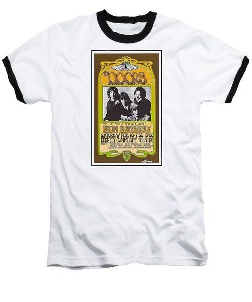 Doors/iron Butterfly Concert Poster Baseball T-Shirt