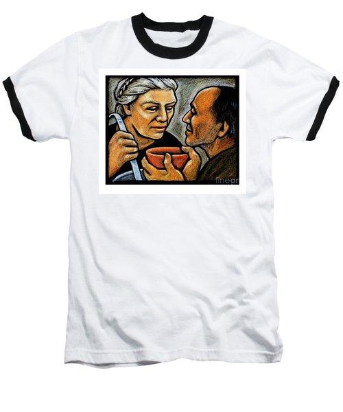 Dorothy Day Feeding The Hungry - Jlddf Baseball T-Shirt