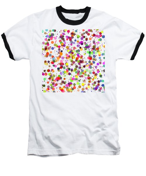 Dots Baseball T-Shirt by Roger Lighterness