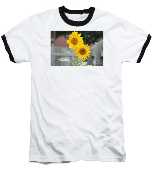 Double Sunflowers Baseball T-Shirt