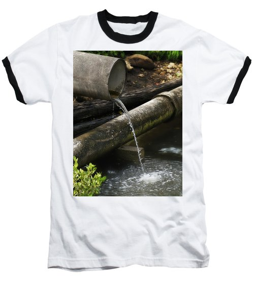 Baseball T-Shirt featuring the photograph Down The Pipe Line 01 by Kevin Chippindall
