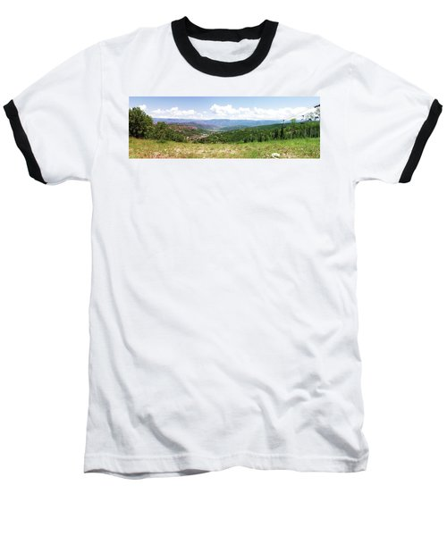 Down The Valley At Snowmass #2 Baseball T-Shirt by Jerry Battle