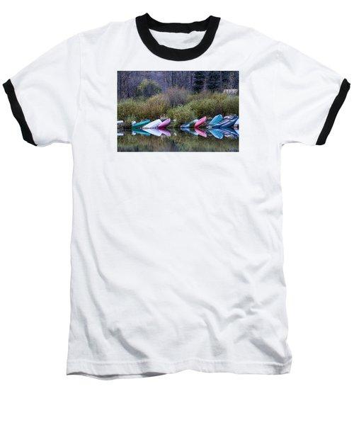 Downtime At Beaver Lake Baseball T-Shirt by Alana Thrower