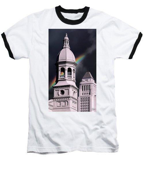 Downtown Buildings Baseball T-Shirt