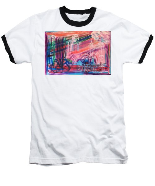Downtown Cincinnati Baseball T-Shirt by Diane Pape