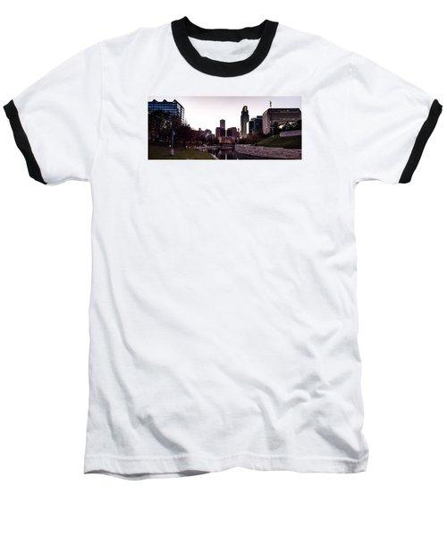Downtown Omaha At Sunset Baseball T-Shirt