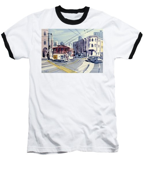 Downtown San Francisco Baseball T-Shirt by Donald Maier