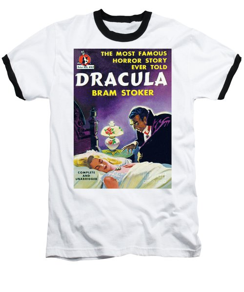 Baseball T-Shirt featuring the painting Dracula by Unknown Artist