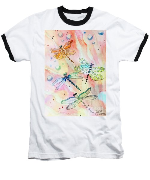 Baseball T-Shirt featuring the painting Dragon Diversity by Denise Tomasura