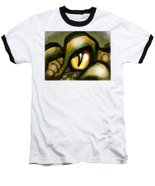Dragon Eye Baseball T-Shirt by Kevin Middleton
