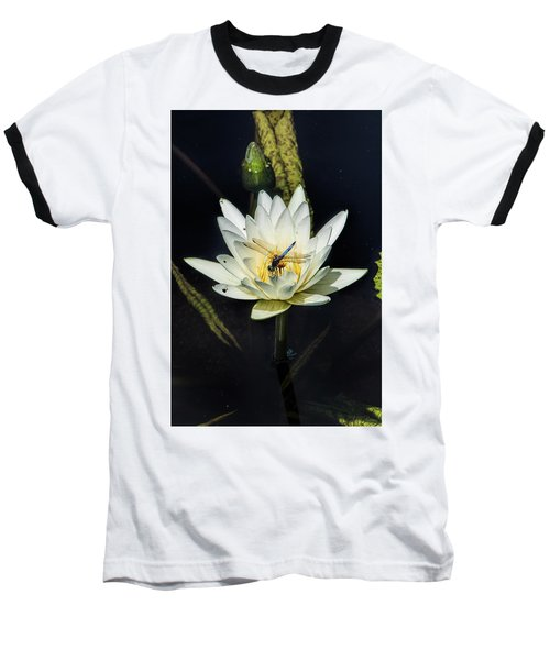 Dragon Fly On Lily Baseball T-Shirt