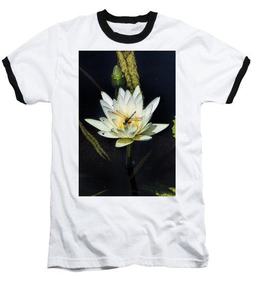 Dragon Fly On Lily Baseball T-Shirt