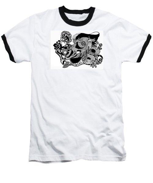 Dragon Lady Baseball T-Shirt by Yelena Tylkina