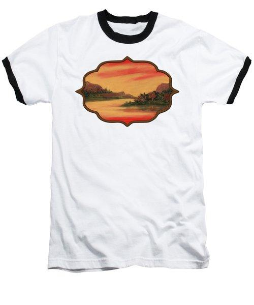 Dragon Sunset Baseball T-Shirt
