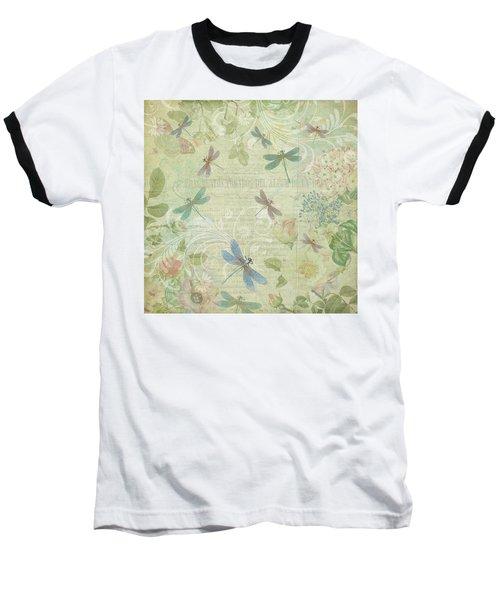 Dragonfly Dream Baseball T-Shirt