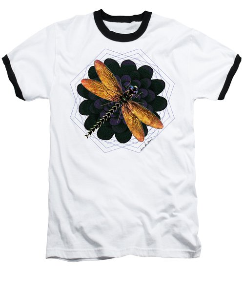 Dragonfly Snookum Baseball T-Shirt by Iowan Stone-Flowers