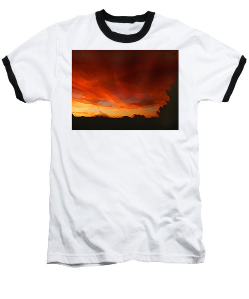 Baseball T-Shirt featuring the digital art Drama At Sunrise by Shelli Fitzpatrick