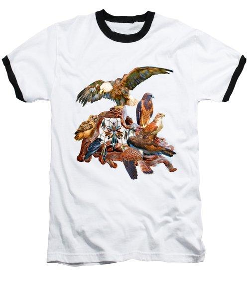 Dream Catcher - Spirit Birds Baseball T-Shirt