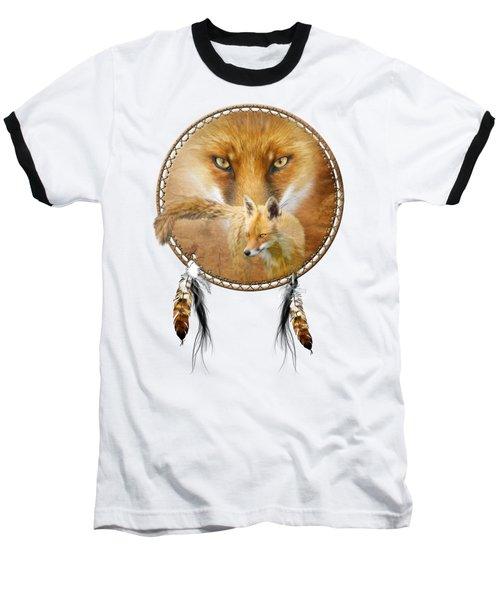 Dream Catcher- Spirit Of The Red Fox Baseball T-Shirt by Carol Cavalaris