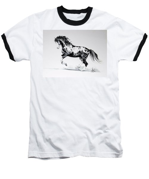 Dream Horse Series - Painted Dust Baseball T-Shirt by Cheryl Poland