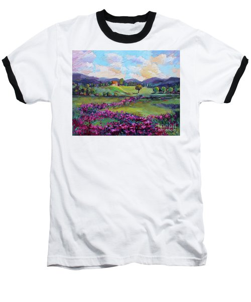 Baseball T-Shirt featuring the painting Dream In Color by Jennifer Beaudet