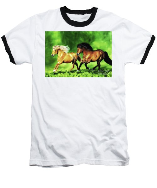 Baseball T-Shirt featuring the painting Dream Team by Shari Nees