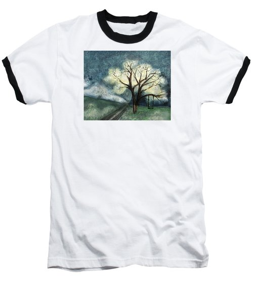 Baseball T-Shirt featuring the painting Dream Tree by Annette Berglund