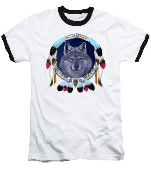 Dream Wolf Baseball T-Shirt by Glenn Holbrook